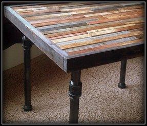 Dining Table Metal Legs Wood Top