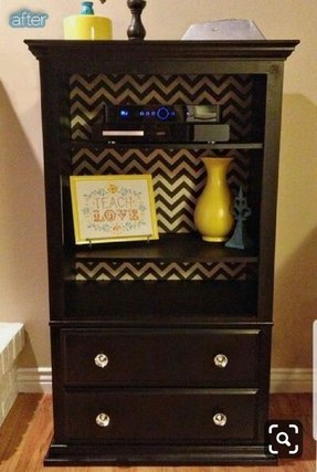 Dresser with drawers and shelves