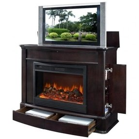 Electric Fireplace With Tv Lift Ideas On Foter