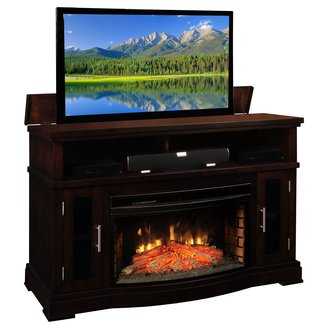 Electric fireplace with tv lift 2