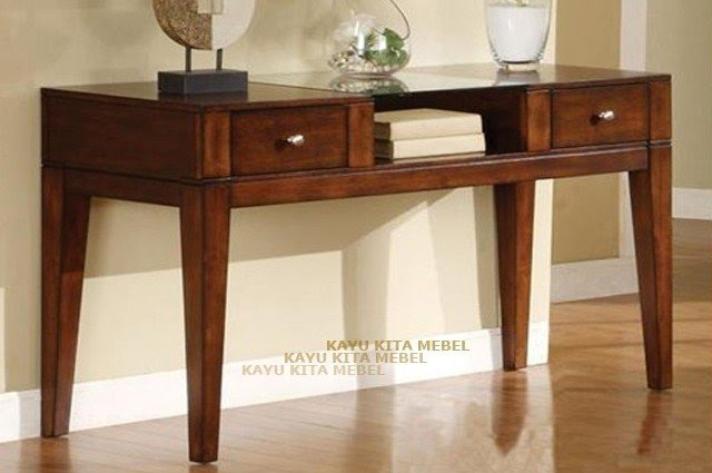 Emmie tobacco oak 2 drawer console table