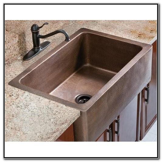 Farmhouse Sink With Drainboard And Backsplash