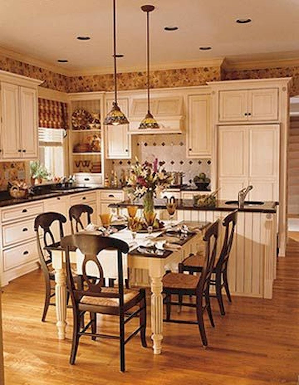 Elegant French Country Kitchen Table