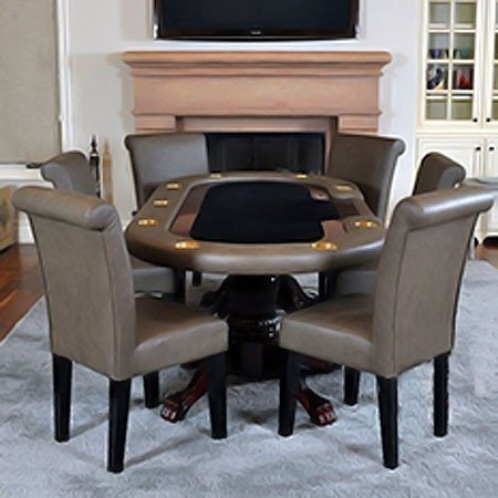 Game room 7 piece mirage poker table set