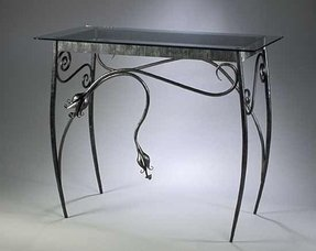 Glass metal console table 3