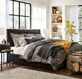 Gray paisley bedding 6