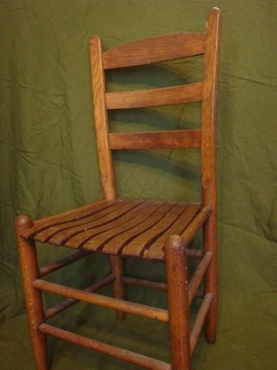 Great Wooden Ladder Back Chair