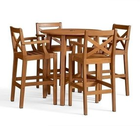 Teak Bar Height Table Foter - Teak bar height table and chairs