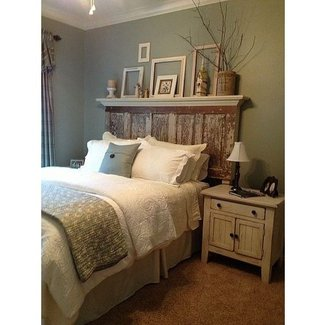 Headboards made from distressed old