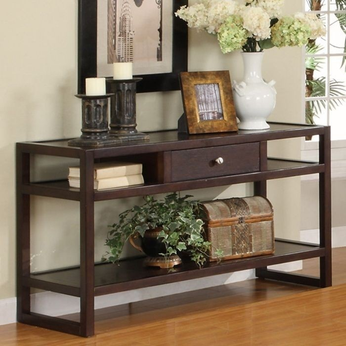 Hilda Blaine Espresso Sofa Table
