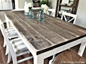 How to distress a dining table