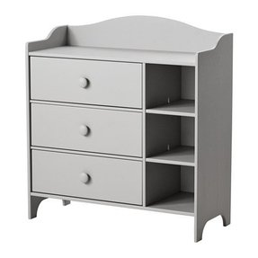 Ikea trogen chest comes with 3 roomy drawers for storage