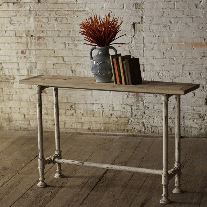 Industrial Metal Console Table