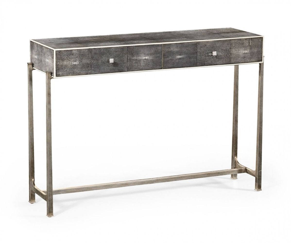 Black sofa table with drawers Sideboard Jonathan Charles Shagreen Console Table Black Finish With Silver Base Foter Contemporary Console Table With Drawers Ideas On Foter
