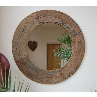 Large Round Wood Mirror Ideas On Foter