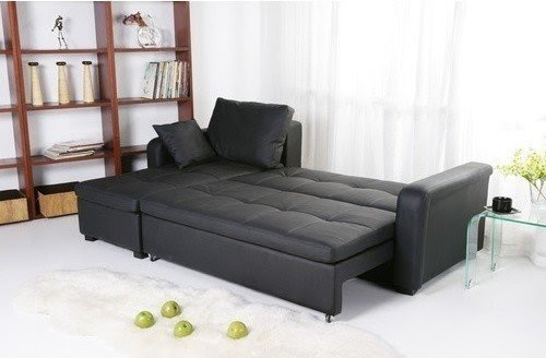 Beau Leather Sectional Sleeper Sofa With Chaise 2