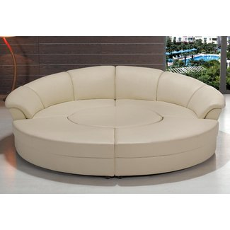 Modern black or white circle sectional