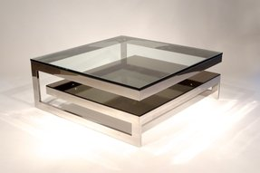 Square Glass Coffee Table Contemporary Ideas On Foter