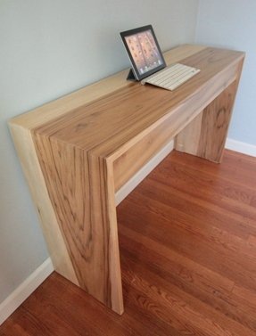 Natural wood computer desk 7