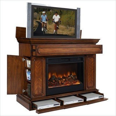 This Electric Fireplace Decorates Indoors And Serves As A TV Stand. It  Includes A Side Compartment And Its Lower Part Features A Drawer For Three  DVD ...