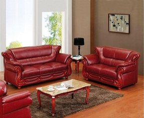Reclining Leather Sofa And Loveseat Set