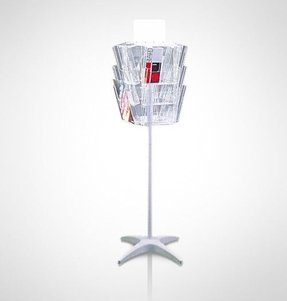 Rotating literature rack foter rotating greeting card display stand m4hsunfo