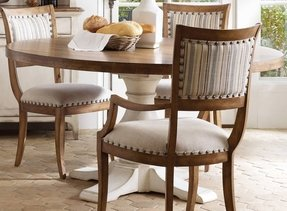 Round dining room sets with leaf 1