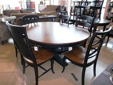 Round Dining Table For 6 With Leaf 2