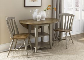 Round dining table set with leaf 7