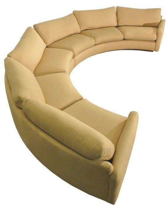 Charmant Semi Round Sectional Sofa