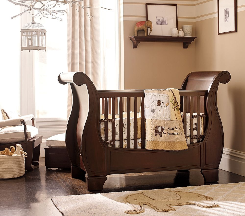 Sleigh bed cribs