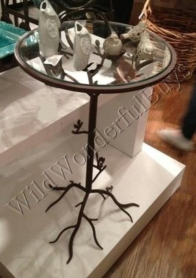Small round glass end table 5