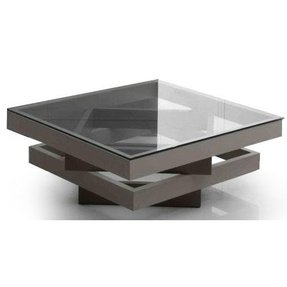 Square Gl Coffee Table Contemporary 5