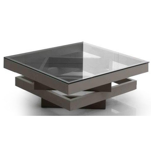 Gentil Square Glass Coffee Table Contemporary 5