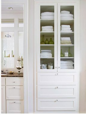 Tall cabinet with drawers