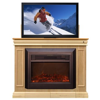 Touchstone conestoga 51 w lift tv stand with electric fireplace
