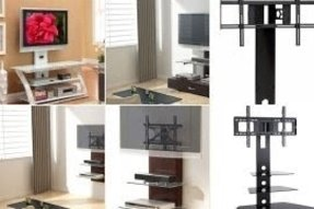 Tv stands with integrated mount