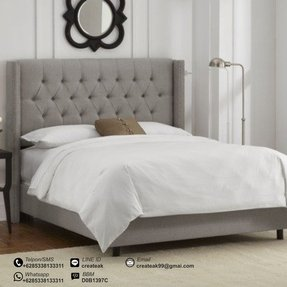 Upholstered wing bed 2