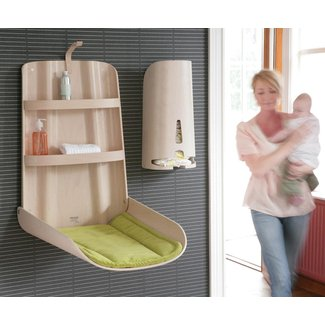 Wall mounted changing table for home