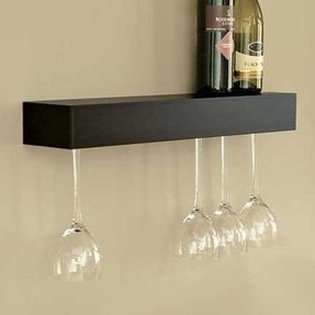 Wine Glass Holder Shelf Ideas On Foter