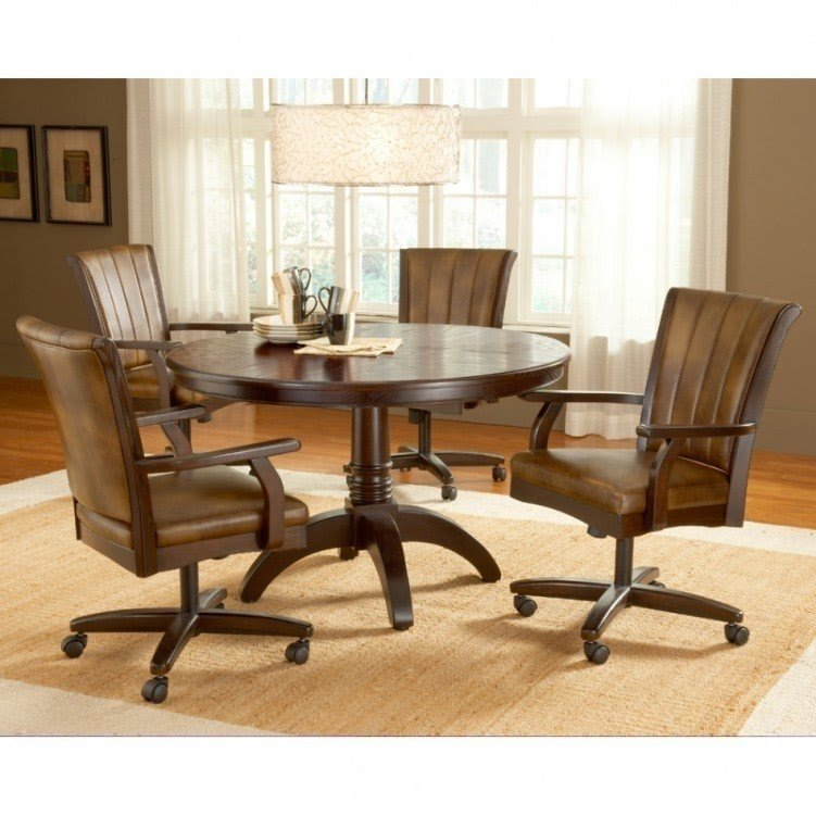 Superbe Wheeled Dining Chairs 19