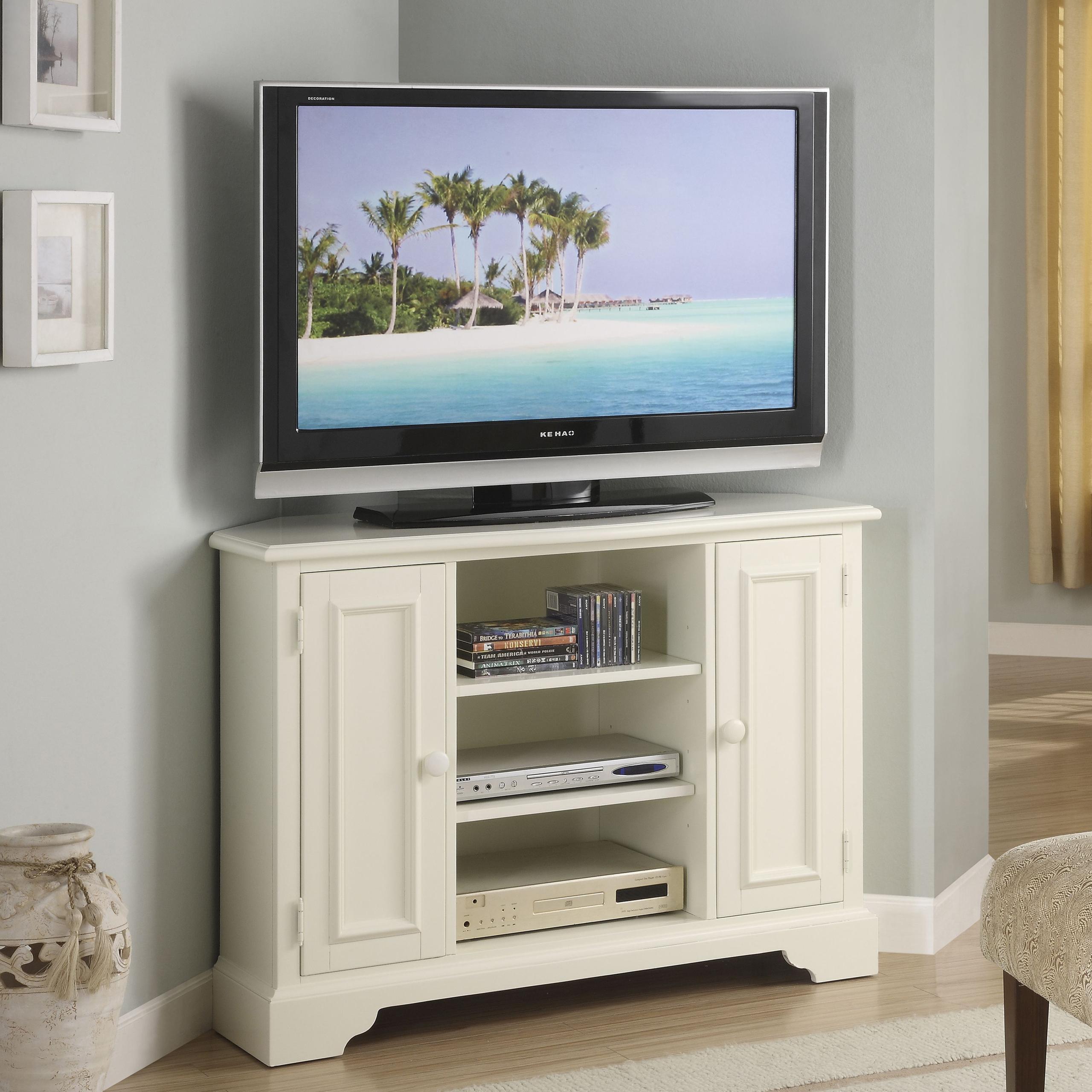 White Corner Tv Armoire