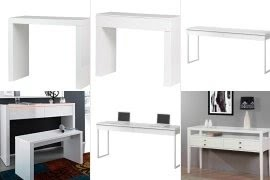 Charmant White High Gloss Console Table