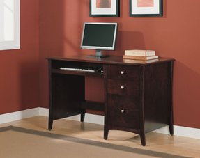 Wooden pedestal desk