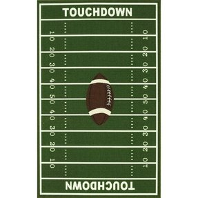 8' X 10' Kids Sports Football Field Area Rug Actual Size 6'7 X 9'2 (Al74) 8x10