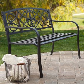 Admirable Metal Garden Benches For Sale Ideas On Foter Evergreenethics Interior Chair Design Evergreenethicsorg