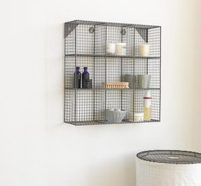 Decorative metal shelves wall mount