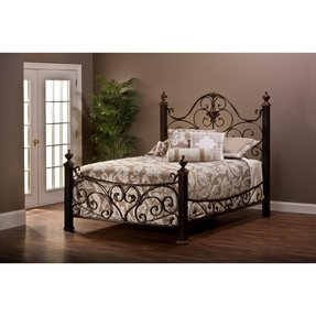 Hillsdale Mikelson Bed in Aged Antique Gold - Queen