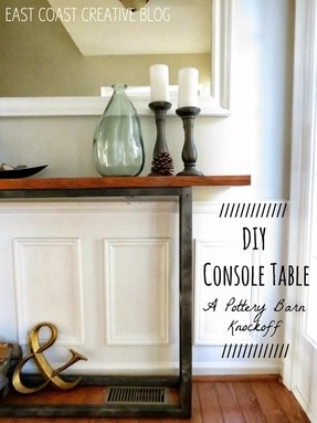 Iron wood console table 5