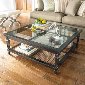 Large Square Gl Coffee Table For